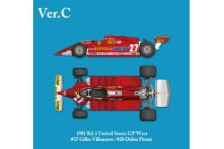 Photo1: HIRO K639 1/12 Ferrari 126CK Ver.C 1981 USA West GP